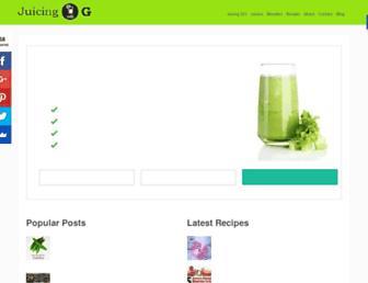 juicingwithg.com screenshot