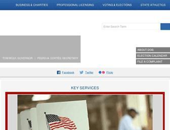dos.state.pa.us screenshot
