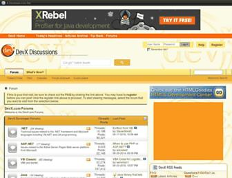 forums.devx.com screenshot