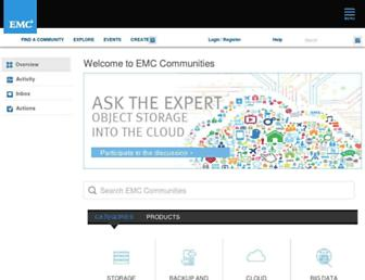 community.emc.com screenshot