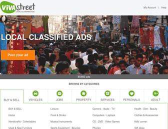 Main page screenshot of vivastreet.co.in
