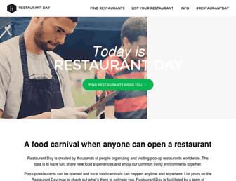 Thumbshot of Restaurantday.org