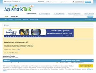 Main page screenshot of aquaristik-talk.de