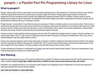 parapin.sourceforge.net screenshot