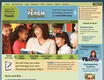 Main page screenshot of teachcalifornia.org