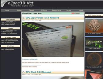 Main page screenshot of ozone3d.net