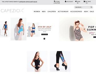 capezio.com screenshot