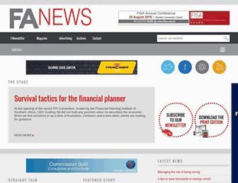 fanews.co.za screenshot
