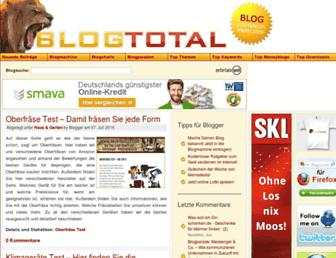 Main page screenshot of blogtotal.de