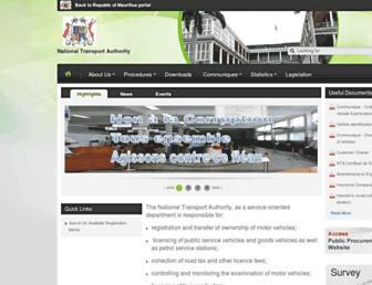 nta.govmu.org screenshot