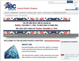 Main page screenshot of ipcabc.org