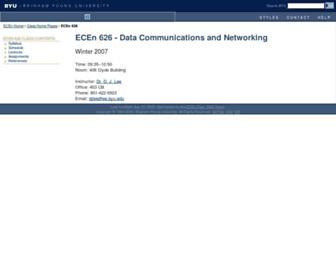 ece626web.groups.et.byu.net screenshot