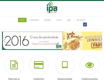 Main page screenshot of ipa-edu.com.br