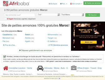 afribaba.ma screenshot