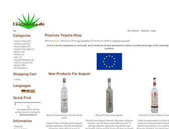 Main page screenshot of 123tequila.de