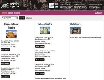 czechopera.cz screenshot