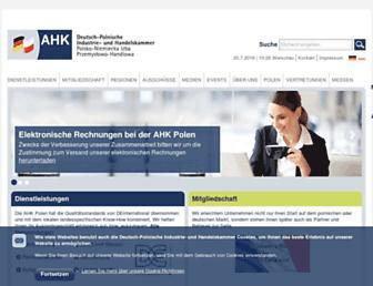 Main page screenshot of ahk.pl