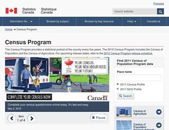 www12.statcan.gc.ca screenshot