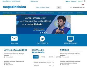 ri.magazineluiza.com.br screenshot