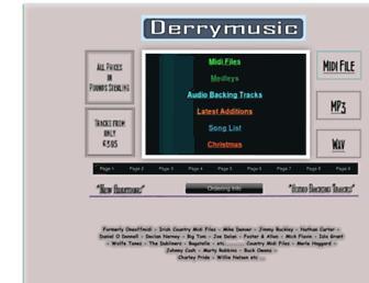 derrymusic.com screenshot