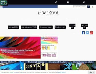 Thumbshot of Mbaskool.com