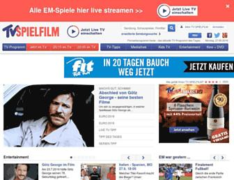 Main page screenshot of tvspielfilm.de