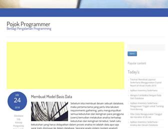pojokprogrammer.net screenshot