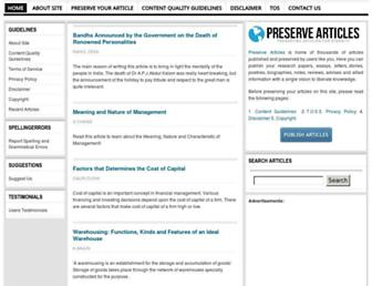 preservearticles.com screenshot