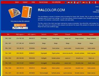 ralcolor.com screenshot
