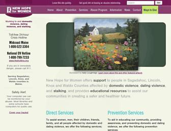 Thumbshot of Newhopeforwomen.org