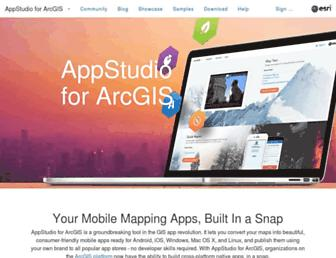 appstudio.arcgis.com screenshot