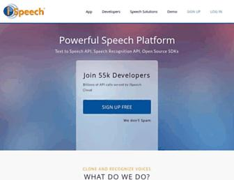 Thumbshot of Ispeech.org
