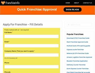 franchiseinfo.in screenshot
