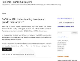 freefincal.com screenshot