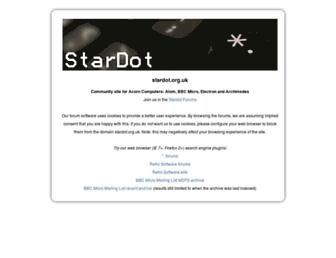 stardot.org.uk screenshot