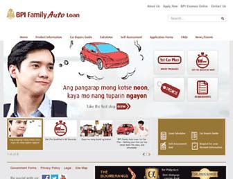 bpiautoloans.com screenshot