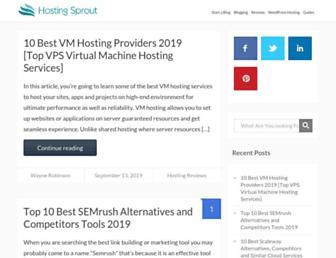 hostingsprout.com screenshot