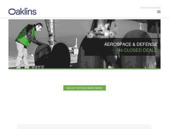 oaklins.com screenshot