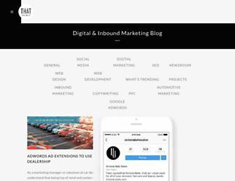 blog.thatagency.com screenshot