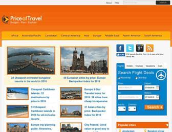 priceoftravel.com screenshot
