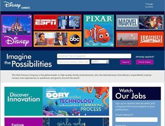 jobs.disneycareers.com screenshot