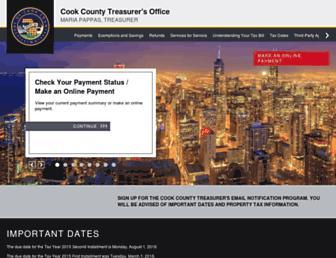 Thumbshot of Cookcountytreasurer.com