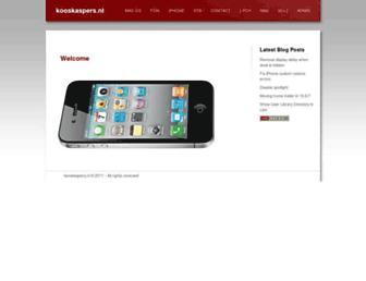 Main page screenshot of kaspers.freeflux.net
