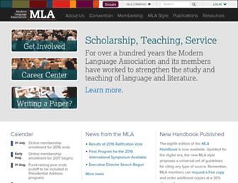 Thumbshot of Mla.org