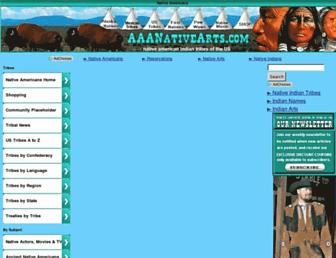 aaanativearts.com screenshot