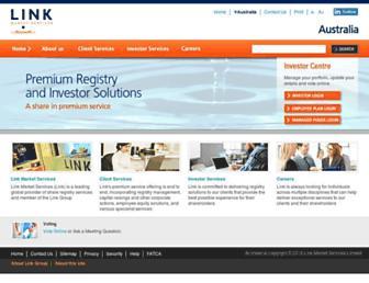 linkmarketservices.com.au screenshot