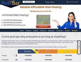 hostfast.com screenshot