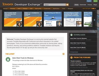 developer.teradata.com screenshot
