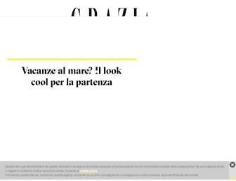 Main page screenshot of grazia.it