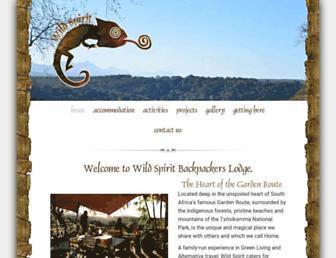 Main page screenshot of wildspiritlodge.co.za